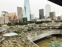 Dallas at noon. A picture of the amazing city known as Dallas at noon stock images