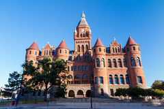 Dallas okręgu administracyjnego gmach sądu także znać jako Stary Czerwony muzeum obraz stock
