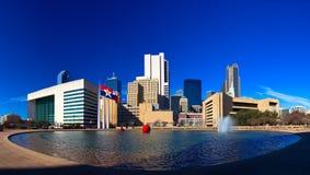 Dallas panorama Arkivbilder