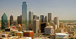 dallas panorama skyline texas 免版税库存图片
