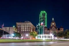 Dallas, paysage urbain du Texas au crépuscule images stock