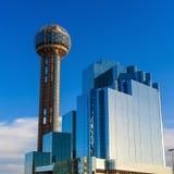 Dallas, paysage urbain du Texas avec le ciel bleu photographie stock