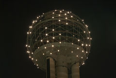 Dallas Reunion Tower. Dallas - May 13, 2007: Dallas Reunion Tower in Dallas Texas at night Royalty Free Stock Photo