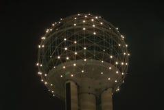Dallas Reunion Tower. Dallas - May 13, 2007: Dallas Reunion Tower in Dallas Texas at night royalty free stock photo