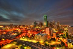 Dallas Skyline lizenzfreies stockbild