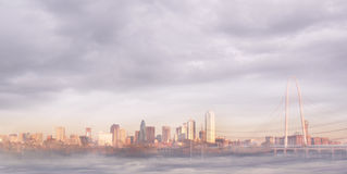 Dallas Skyline. A foggy shot of the Dallas, Texas skyline Royalty Free Stock Images