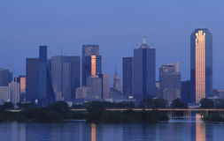 Dallas Skyline. Skyline of Dallas Texas at dusk on overcast day Stock Photography