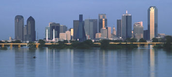 Dallas Skyline. Dallas, Texas skyline at dusk royalty free stock images