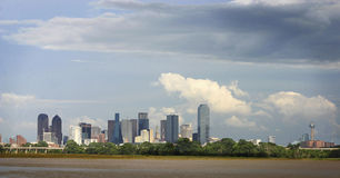 Dallas skyline. Dallas Texas skyline with clouds in background stock photography