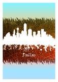 Dallas Skyline Blue y blanco libre illustration