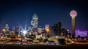 Dallas skyline by night Stock Images