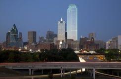 Dallas skyline at  night. Beautiful downtown Dallas at night , TX USA Stock Photos