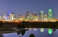Dallas Skyline at Night Royalty Free Stock Image