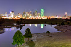 Dallas Skyline at Night Royalty Free Stock Photography