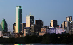 Dallas skyline night scenes Royalty Free Stock Photo