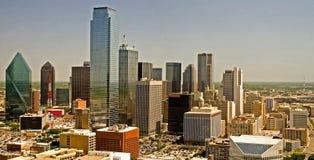 Dallas-Skyline-Panorama Lizenzfreies Stockbild