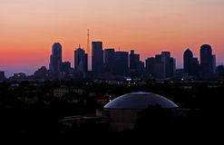 Dallas Skyline. A photo of a Dallas skyline on sunset Royalty Free Stock Images