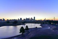 Dallas Skyline at Sunrise Stock Images
