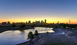 Dallas Skyline at Sunrise Royalty Free Stock Photos