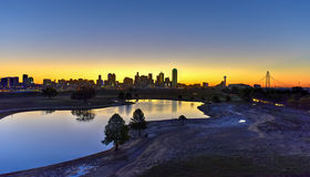 Dallas Skyline at Sunrise Royalty Free Stock Images