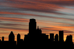 Dallas Skyline at sunset Royalty Free Stock Photography