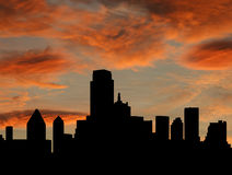 Dallas Skyline at sunset Stock Image