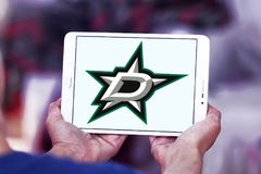 Dallas Stars-het embleem van het ijshockeyteam Stock Foto