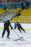 Dallas Stars Practice Royalty Free Stock Photography