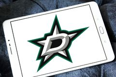 Dallas Stars zamraża drużyna hokejowa loga zdjęcia stock