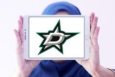 Dallas Stars zamraża drużyna hokejowa loga obraz royalty free