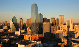 Dallas at sunset Stock Photography