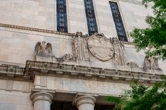 Dallas, Tejas - 7 de mayo de 2018: Edificios en Dallas Texas céntrico Fotografía de archivo libre de regalías