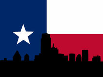 Dallas with Texan flag Royalty Free Stock Photos