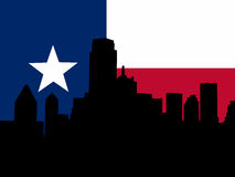 Dallas with Texan flag Royalty Free Stock Images
