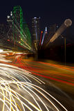 Dallas Texas (abstract). Abstract of evening commute in Dallas Royalty Free Stock Images