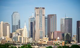 Dallas Texas City Skyline At Daytime Royalty Free Stock Photography