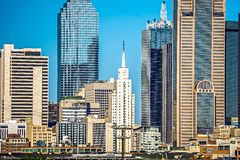 Dallas texas city skyline at daytime. Dallas texas city skyline at  daytime Stock Photos