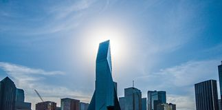 Dallas texas city skyline and downtown Royalty Free Stock Photos