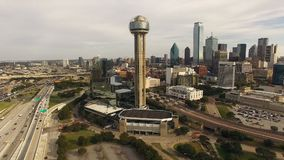 Dallas Texas City Skyline South United van de binnenstad verklaart Noord-Amerika stock footage