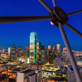 Dallas, Texas cityscape with blue sky at sunset Stock Image