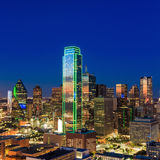 Dallas, Texas cityscape with blue sky at sunset Royalty Free Stock Photos
