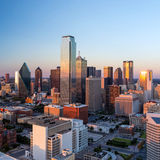 Dallas, Texas cityscape. With blue sky at sunset, Texas royalty free stock photo