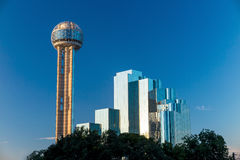 Dallas, Texas cityscape with blue sky, Texas Stock Images