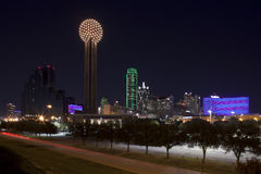 Dallas Texas at night Stock Photography