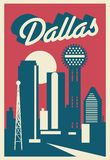 Dallas Texas Postcard stock illustratie