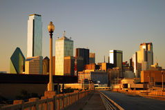 Dallas Texas. The skyline of Dallas Texas as seen from Commerce Street Birdge stock photos