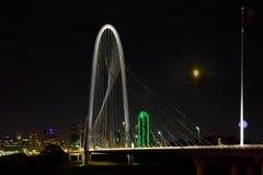 Dallas Texas Skyline Margaret Hill Hunt Bridge Royalty Free Stock Photography