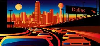 Dallas Texas skyline. Stylized skyline Stock Image