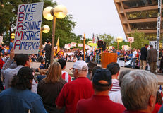 Dallas Texas Tea Party Stock Image