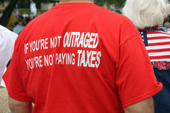 Dallas Texas Tea Party Stock Photography